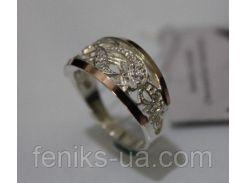 Серебряное кольцо с золотой накладкой (ch0019)