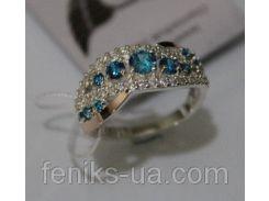 Серебряное кольцо с золотыми накладками (ch0020)