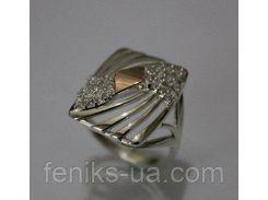 Серебряное кольцо с фианитами (ch0029)