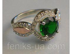 Серебряное кольцо из серебра с золотом (089к)