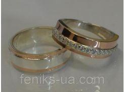 Серебряные обручальные кольца (обр6040к)