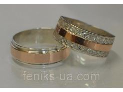 Серебряные обручальные кольца (обр5002к)