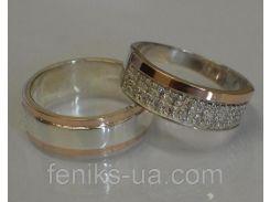 Серебряные обручальные кольца (обр6017к)