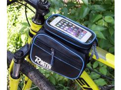 Велосипедная сумка Rogtyo нарамная Черно-синий