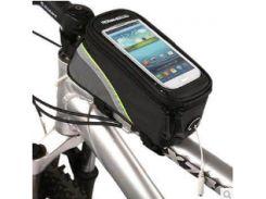 Велосумка Roswheel на раму ч/салат.