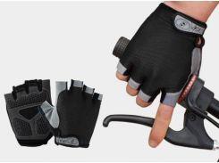 Перчатки Sport велосипедные черные гель