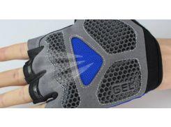 Перчатки Sport велосипедные синие гель