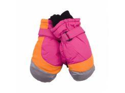 Лыжные рукавицы YO!, р.18, розовый с оранжевым (RN-79/GIR/18)
