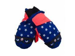 Лыжные рукавицы YO!, р.18, синий с оранжевым (RN-015/BOY/18)