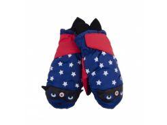 Лыжные рукавицы YO!, р.18, красный с синим (RN-015/BOY/18)