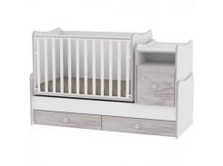 Кроватка-трансформер Lorelli Trend Plus new, светло-серый (20674)