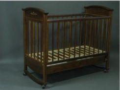 Кроватка Laska-M Наполеон VIP, темный орех (21358)