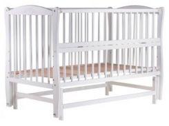 Кроватка Babyroom Элит резьба DER-6, бук белый (622074)
