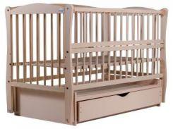 Кроватка Babyroom Элит резьба DER-7, бук, слоновая кость (622039)