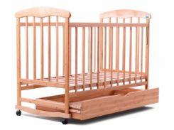 Детская кроватка Наталка ОСЯ, с ящиком, ольха светлая (20007)