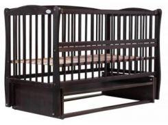 Кроватка Babyroom Элит резьба DER-6, бук венге (622022)