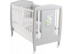 Детская кроватка Cam Coniglio, бук, серый с белым (G252)