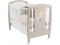 Детская кроватка Cam Orso, бук, коричневый с белым (G212)