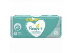 Детские влажные салфетки Pampers Sensitive, 2x52 шт.
