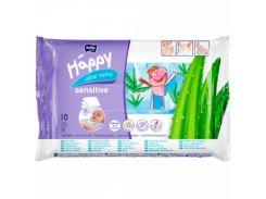 Влажные салфетки Bella Baby Happy Sensetive Aloe Vera, 10 шт.