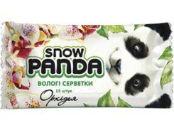 Влажные салфетки Снежная Панда Орхидея, для рук, 15 шт.
