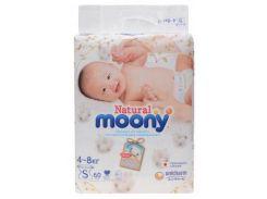 Подгузники Moony Natural S (4-8 кг), 60 шт.