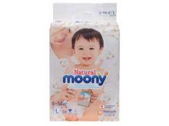 Подгузники Moony Natural L (9-14 кг), 54 шт.