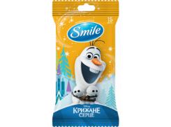 Влажные Салфетки Smile Frozen mix Холодное Сердце, с еврослотом, 15 шт., оранжевый (42109400)