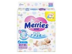 Подгузники Merries NB (0-5 кг), 90 шт.