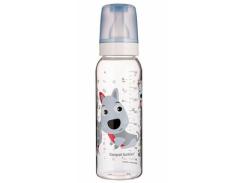 Тритановая бутылочка с рисунком Canpol babies Веселые зверюшки Собачка, 250 мл (11/841 голубой)