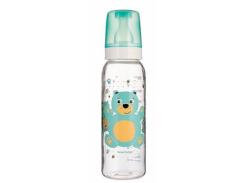 Тритановая бутылочка с рисунком Canpol babies Веселые зверюшки Мишка, 250 мл (11/841 бирюза)