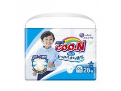 Трусики Goo.N XXL (13-25 кг) для мальчиков, 28 шт.