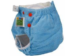 Подгузник трикотажный ЭКО ПУПС Active Classic с вкладышем Abso Maxi, 5-9 кг, голубой (ТП2ВК4-2с)