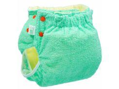 Подгузник трикотажный ЭКО ПУПС Active Classic с вкладышем, 18-23 кг, зеленый (ТП2ВК3-4з)