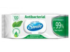 Влажные салфетки Smile Baby Antibacterial, с подорожником, 100 шт.