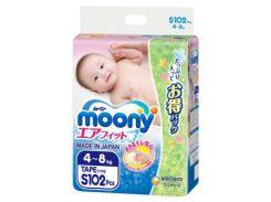 Подгузники Moony S (4-8 кг), 102 шт.