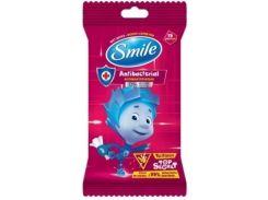 Влажные салфетки Smile Фиксики, антибактериальные, 15 шт.