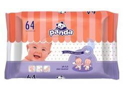 Влажные салфетки Panda, 64 шт.