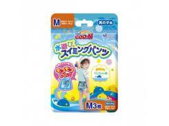 Трусики-подгузники для плавания Goo.N M (7-12 кг) для мальчика, 3 шт.