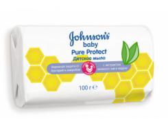 Детское мыло JOHNSON'S® Baby Pure Protect™, 100 г