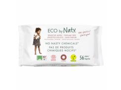 Влажные салфетки Naty Эко, без запаха, 56 шт.