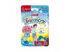 Трусики-подгузники для плавания Goo.N L (9-14 кг) для мальчика, 3 шт.