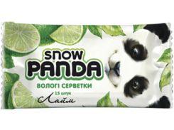 Влажные салфетки Снежная Панда Лайм, для рук, 15 шт.