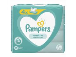Влажные салфетки Pampers Sensitive, 4x52 шт.