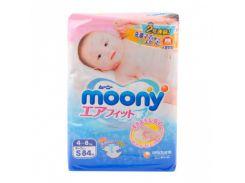 Подгузники Moony S (4-8 кг), 84 шт.