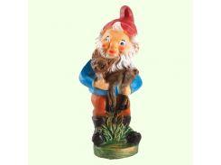 Садовая фигура фигурка для сада Гном лесничий (М)