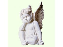 Садовая фигура фигурка для сада Ангелок мечтающий