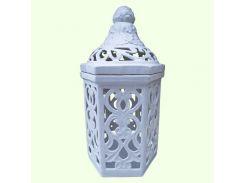 Керамическая лампада Славянский сувенир Замок L-18 глазурь белая