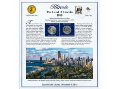Постер штата Иллинойс