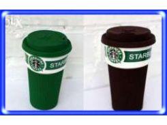 Термокружка керамическая StarBucks 008, чашка керамическая кружка Starbucks, стакан StarBucks, кружка старбакс 500